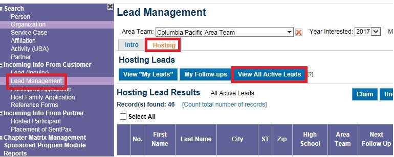 Find and Contact Host Family Leads – Help & Learning
